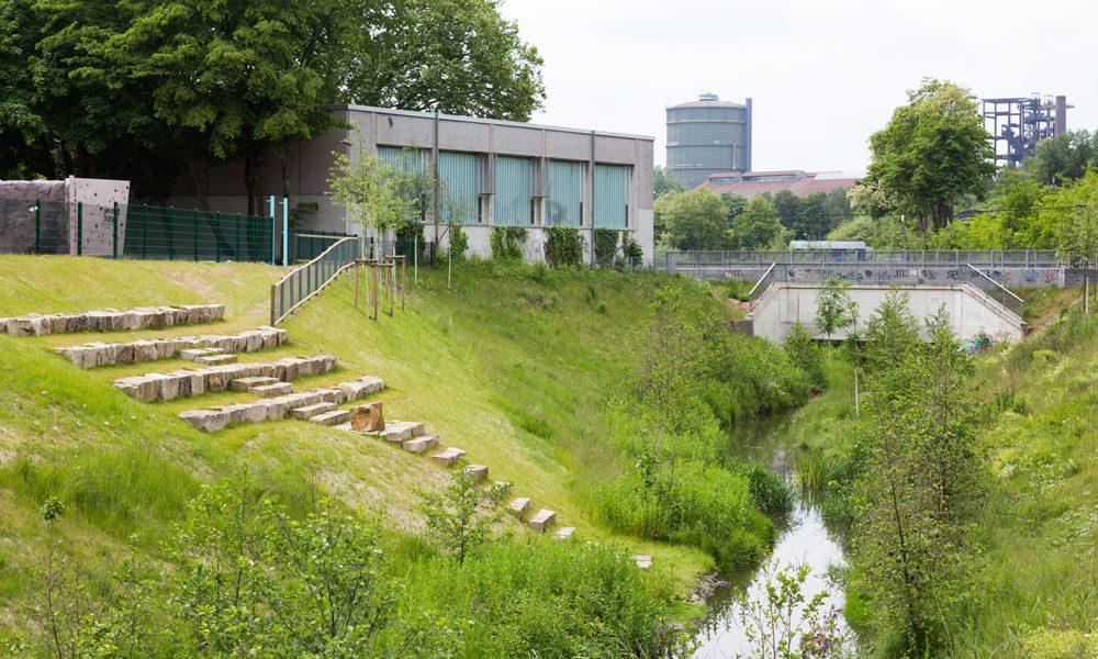 Blaues Klassenzimmer in Dortmund-Hörde. Foto: Helge Jahn/EGLV
