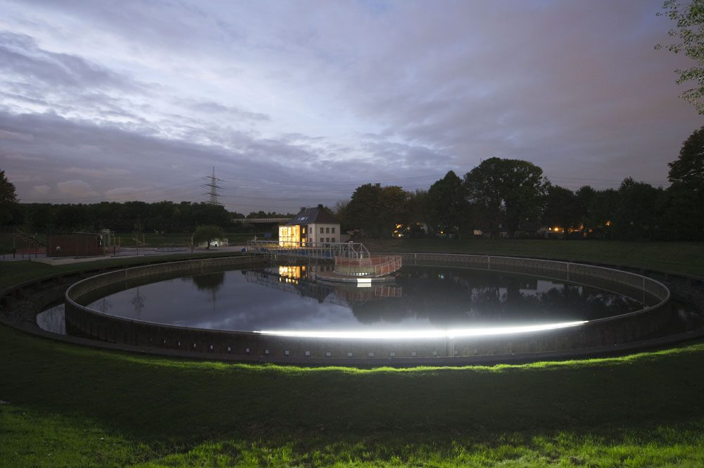 Der Bernepark bei Nacht. Foto: Roman Mensing/EGLV